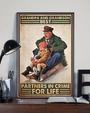 Sledding Grandpa And Grandson PDN-DQH 11x17 Poster lifestyle-poster-2