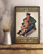 Sledding Grandpa And Grandson PDN-DQH 11x17 Poster lifestyle-poster-3