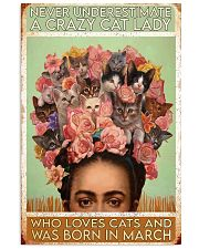 Cat Frid Crazy Cat Lady Born In March 11x17 Poster front