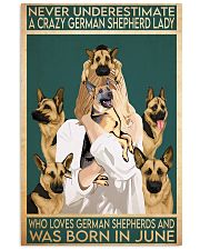 Crazy German Shepherd june 11x17 Poster front