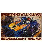 Cadilla racing choose something fun pt dvhh-dqh 17x11 Poster front