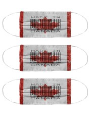 Canada Made In Code  Cloth Face Mask - 3 Pack front
