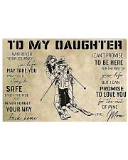 Skiing To My Daughter PDN-dqh 17x11 Poster front
