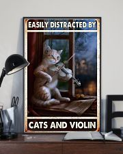 Cats Violin Easily Distracted 11x17 Poster lifestyle-poster-2
