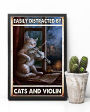 Cats Violin Easily Distracted 11x17 Poster lifestyle-poster-8