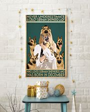 Crazy German Shepherd december 11x17 Poster lifestyle-holiday-poster-3