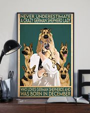 Crazy German Shepherd december 11x17 Poster lifestyle-poster-2