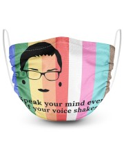 RB lgbt speak your mind mas lqt-NTH 2 Layer Face Mask - Single thumbnail