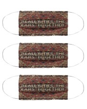 Funny Really Ties The Ears Together Cloth Face Mask - 3 Pack front