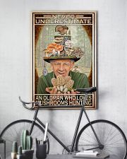 Mushroom Never Under Estimate An Old Man PDN-DQH 11x17 Poster lifestyle-poster-7