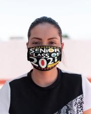 Senior 2021 Afro Msk  Cloth Face Mask - 3 Pack aos-face-mask-lifestyle-03