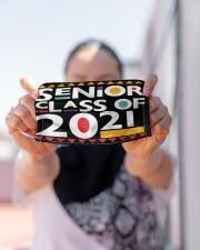 Senior 2021 Afro Msk  Cloth Face Mask - 3 Pack aos-face-mask-lifestyle-07