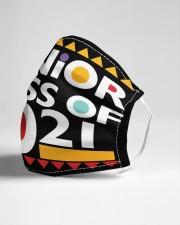 Senior 2021 Afro Msk  Cloth Face Mask - 3 Pack aos-face-mask-lifestyle-21