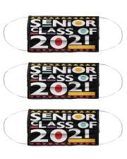 Senior 2021 Afro Msk  Cloth Face Mask - 3 Pack front