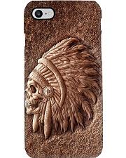 native indian chief skull 3d pc phq-nna Phone Case i-phone-8-case