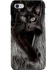 Cat Black Fur PC-NTH Phone Case i-phone-8-case