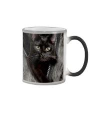 Cat Black Fur PC-NTH Color Changing Mug tile
