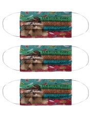 Native native girl Cloth Face Mask - 3 Pack front