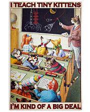 Cat Teacher I Teach Tiny Kittens PDN-dqh 24x36 Poster front