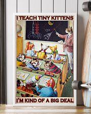 Cat Teacher I Teach Tiny Kittens PDN-dqh 24x36 Poster lifestyle-poster-4