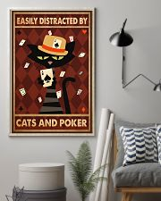 Cat Poker Easily Distracted PDN-ntv 11x17 Poster lifestyle-poster-1
