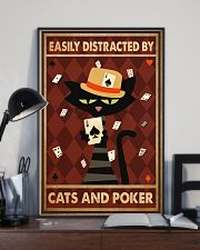 Cat Poker Easily Distracted PDN-ntv 11x17 Poster lifestyle-poster-2