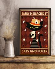 Cat Poker Easily Distracted PDN-ntv 11x17 Poster lifestyle-poster-3