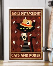 Cat Poker Easily Distracted PDN-ntv 11x17 Poster lifestyle-poster-4