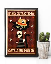 Cat Poker Easily Distracted PDN-ntv 11x17 Poster lifestyle-poster-8