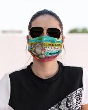 Yoga sloth I'm mostly peace msk Cloth Face Mask - 3 Pack aos-face-mask-lifestyle-02