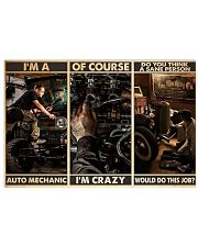 Auto Mechanic Sane Person PDN-dqh 17x11 Poster front