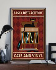 Music Cat Vinyl Easily Distracted 2 PDN-pml 11x17 Poster lifestyle-poster-2