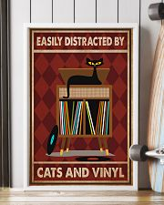 Music Cat Vinyl Easily Distracted 2 PDN-pml 11x17 Poster lifestyle-poster-4