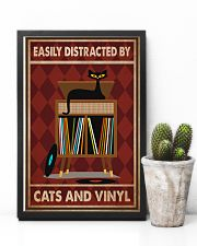 Music Cat Vinyl Easily Distracted 2 PDN-pml 11x17 Poster lifestyle-poster-8