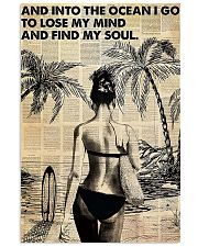 Ocean Surfing Into The Ocean I Go 11x17 Poster front