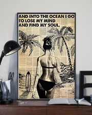 Ocean Surfing Into The Ocean I Go 11x17 Poster lifestyle-poster-2