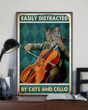 Cat Cello Easily Distracted 11x17 Poster lifestyle-poster-2