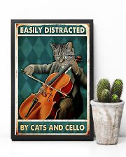 Cat Cello Easily Distracted 11x17 Poster lifestyle-poster-8