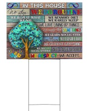 Autism In This House YS 24x18 Yard Sign front