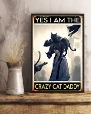 Cat Dad Yes I'm Crazy PDN-dqh 11x17 Poster lifestyle-poster-3