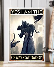 Cat Dad Yes I'm Crazy PDN-dqh 11x17 Poster lifestyle-poster-4