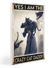 Cat Dad Yes I'm Crazy PDN-dqh 20x30 Gallery Wrapped Canvas Prints thumbnail