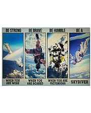 Skydiving Strong Brave Humble PDN ngt 17x11 Poster front