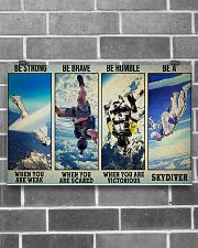 Skydiving Strong Brave Humble PDN ngt 17x11 Poster poster-landscape-17x11-lifestyle-18