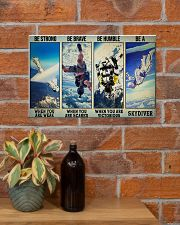 Skydiving Strong Brave Humble PDN ngt 17x11 Poster poster-landscape-17x11-lifestyle-23