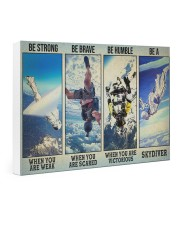 Skydiving Strong Brave Humble PDN ngt Gallery Wrapped Canvas Prints tile