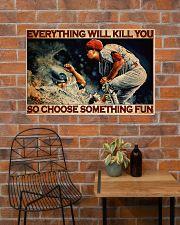 Baseball Choose ST Fun PDN-DQH  36x24 Poster poster-landscape-36x24-lifestyle-20