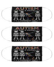 Autism Not A Disability Cloth Face Mask - 3 Pack front