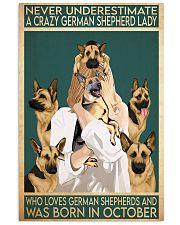 Crazy German Shepherd october 11x17 Poster front