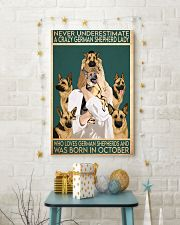 Crazy German Shepherd october 11x17 Poster lifestyle-holiday-poster-3